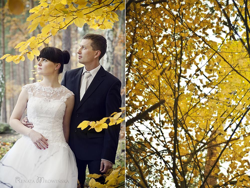 portret w liściach